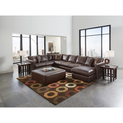 Jackson Furniture Tucker Sectional Sofa with Six Seats (one is a chaise)
