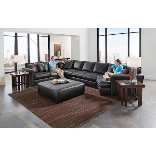 Jackson Furniture Tucker Sectional Sofa with Six Seats