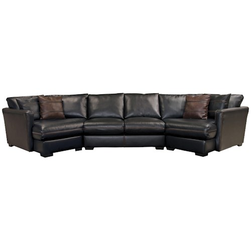 Jackson Furniture Tucker Four Seat Sectional Sofa
