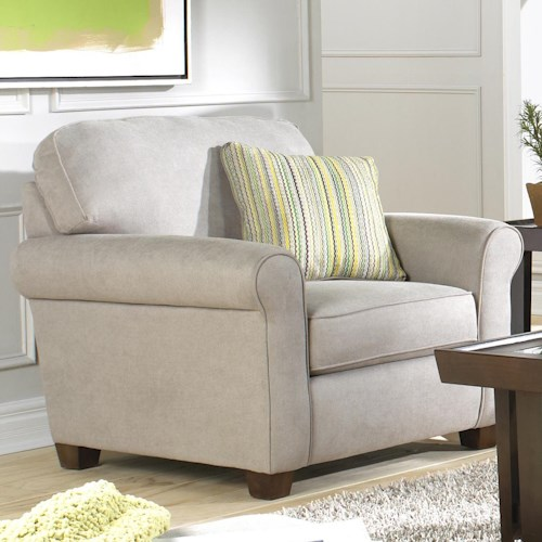Jackson Furniture Zachary Transitional Chair with Welt Cords