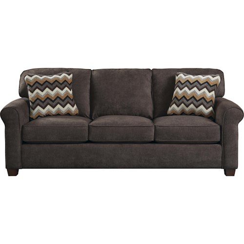Jackson Furniture Zachary Transitional Sofa with Sock Arms