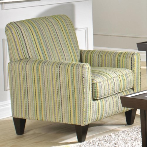 Jackson Furniture Zachary Transitional Accent Chair with Rolled Arms