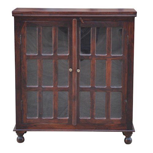 Morris Home Furnishings Brazil Bolivia Glass Door Cabinet