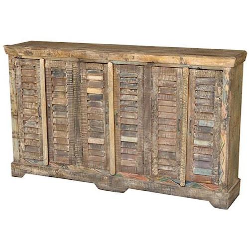 jaipur furniture guru reclaimed wood 6 door shutter sideboard wooden sideboard furniture