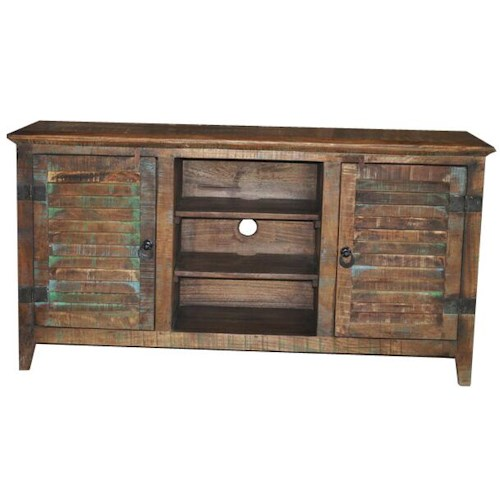 Jaipur Furniture Guru Shutter 2-Door 2-Shelf Plasma Unit
