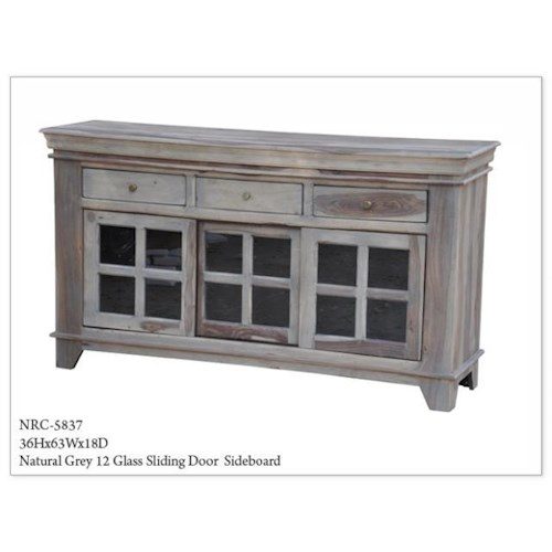Morris Home Furnishings Morris Home Furnishings Natural Grey Sliding Door Sideboard