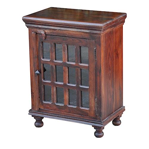 Morris Home Furnishings Brazil Glass Door End Table