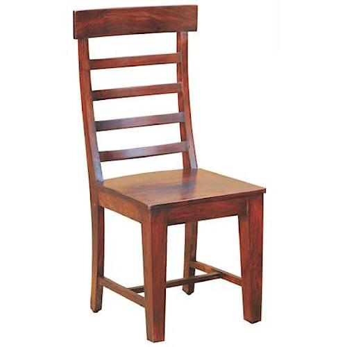 Morris Home Furnishings Morris Home Furnishings Senegal Wood Ladder Back Dining Side Chair