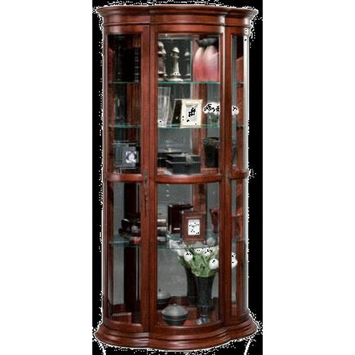 Jasper Cabinet Display Cabinets Crescent Shaped Decorator Curio
