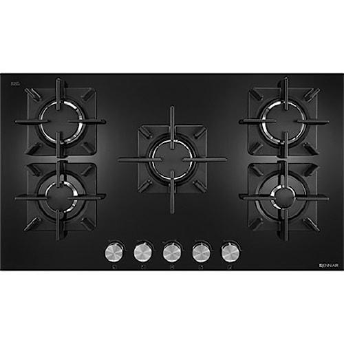 "Jenn-Air Cooktops - Gas 36"", Glass 5-Burner Gas Cooktop"