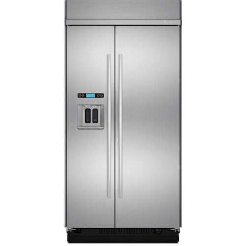 Jenn-Air SideXSide Refrigerators Jenn-Air® 42-Inch Built-In Side-by-Side Refrigerator with Water Dispenser