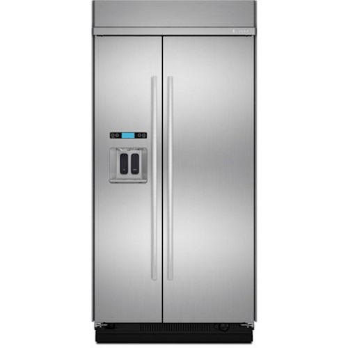 Jenn-Air SideXSide Refrigerators Jenn-Air® 48-Inch Built-In Side-by-Side Refrigerator with Water Dispenser