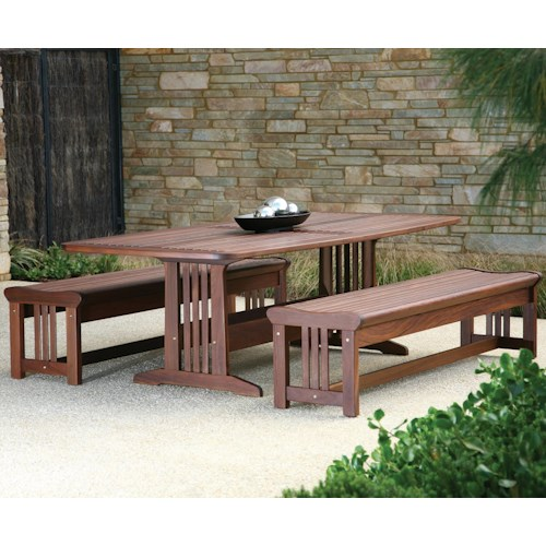 Jensen Leisure Governor Dining Bunbury Dining Table with Lincoln Benches