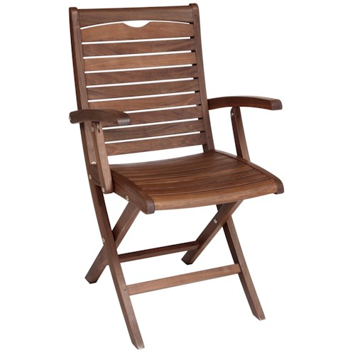 Jensen Leisure Topaz Folding Wood Arm Chair