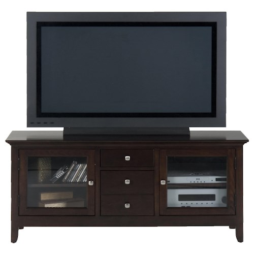Jofran Fresno Merlot Contemporary 2-Drawer 2-Door TV Media Cabinet