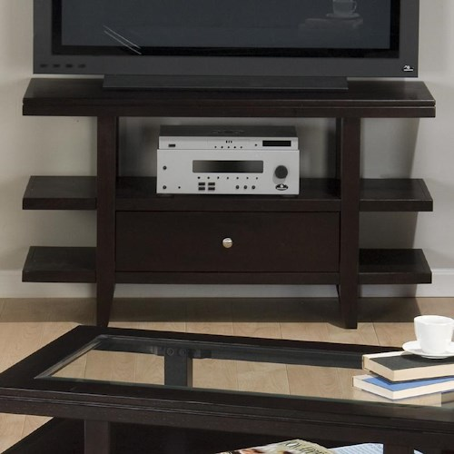 Jofran Marlon Wenge Sofa Table/Media Unit w/ Drawer & Shelf