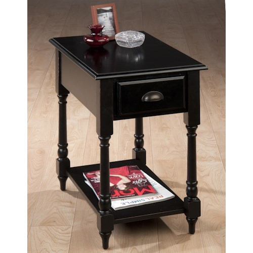 Morris Home Furnishings Kesling Transitional Antique Black Chairside Table