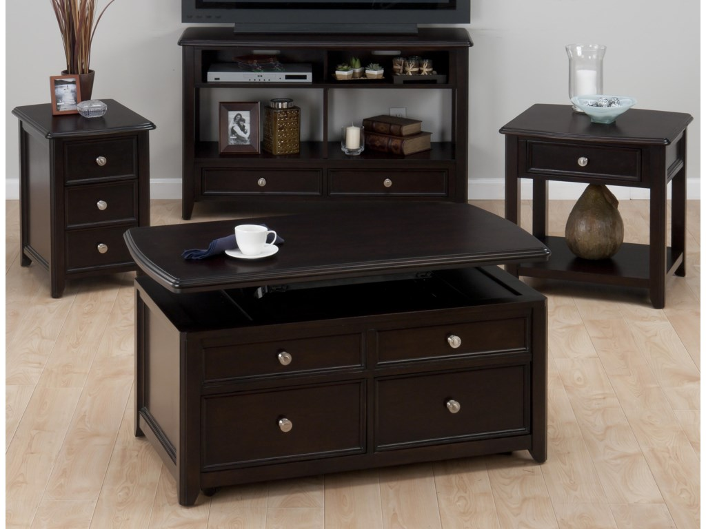 Shown with Cocktail Table, Media Unit, & End Table