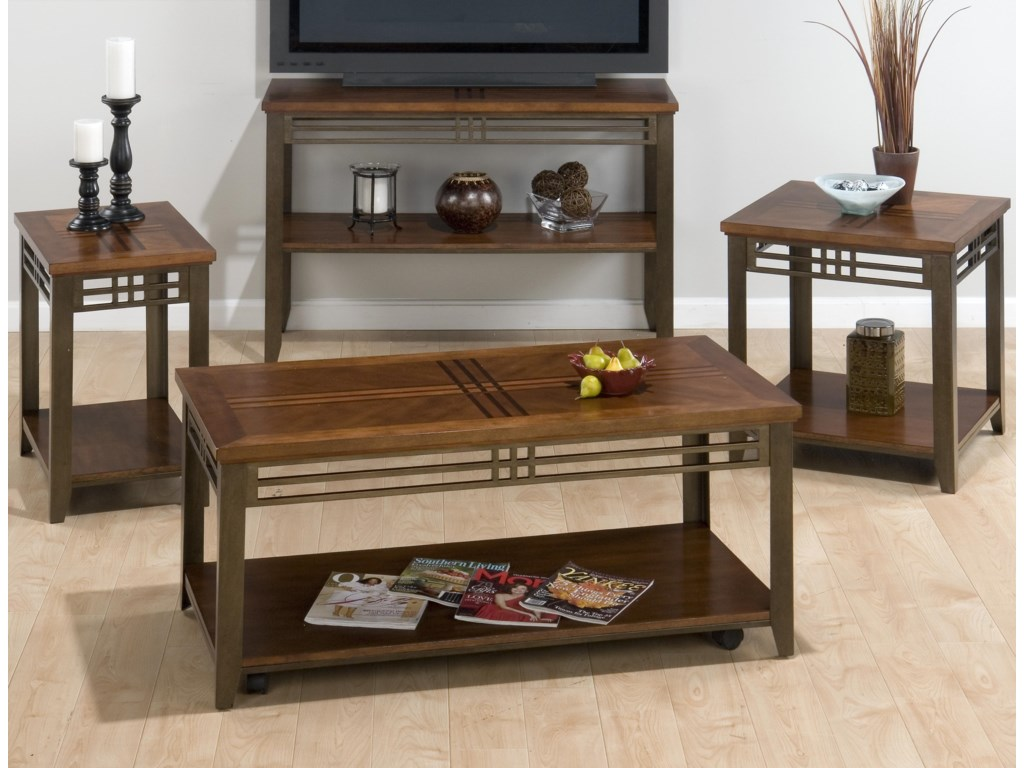Shown with Cocktail Table, Chairside Table, and Media Unit