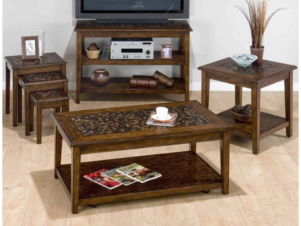 Shown with coordinating collection Chairside Tables, Sofa Table and End Table