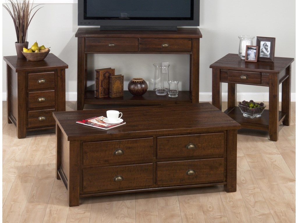 Shown with Chairside Table, Sofa/Media Unit, and End Table