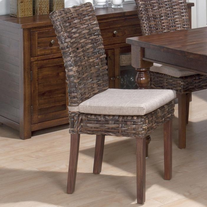 Set Includes Four Rattan Side Chairs