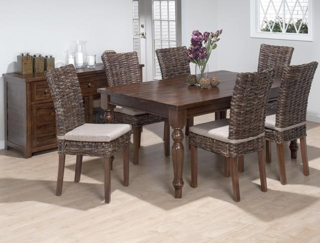 Shown with Rattan Side Chairs and Buffet