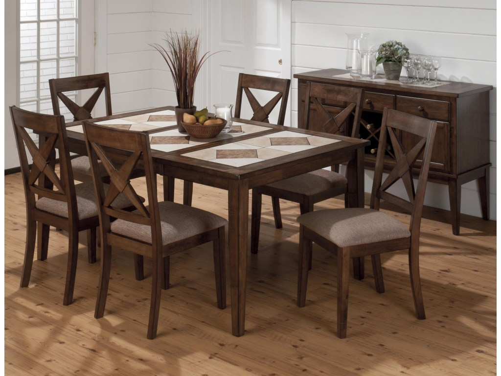 Shown with Coordinating Collection Nova Side Chairs and Server
