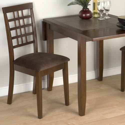 Jofran Caleb Brown Weaveback Casual Dining Side Chair