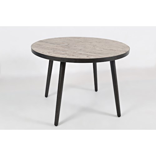 Jofran american retrospective 42 round dining table for Dining room tables 42 round