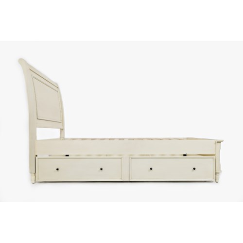 Jofran Emerson: Ivory Twin Panel Bed with Trundle Bed