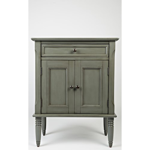 Jofran Oakley: Grey Door Nightstand