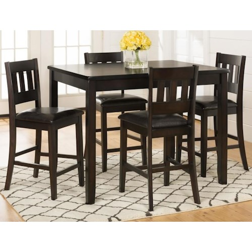 Morris Home Furnishings Berkely 5-Piece Counter Height Dining Set