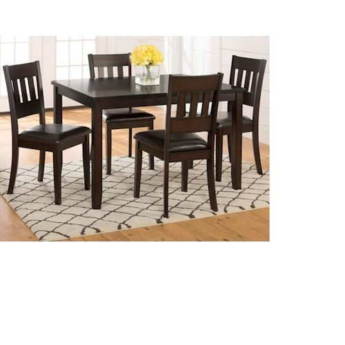 Morris Home Furnishings Berkely 5-Piece Dining Set