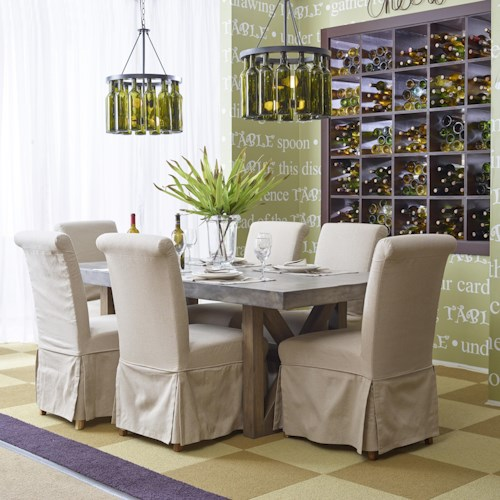 Jofran Boulder Ridge Rectangle Dining Table Set