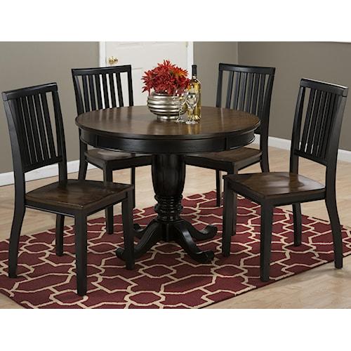 """Jofran Braden Birch 42"""" Round Kitchen Table and Chair Set"""