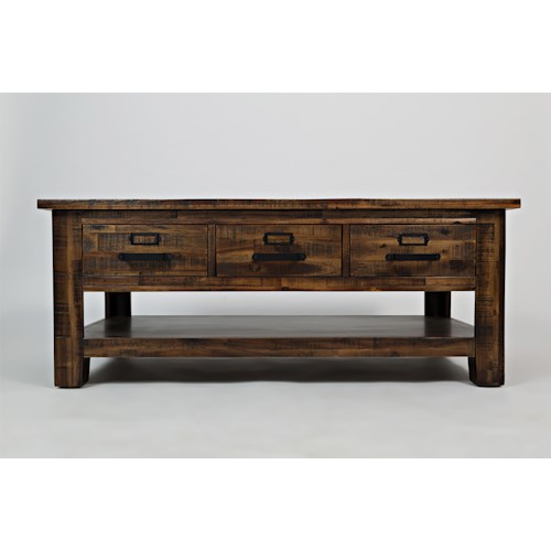 Morris Home Furnishings Morrow Three Drawer Cocktail Table