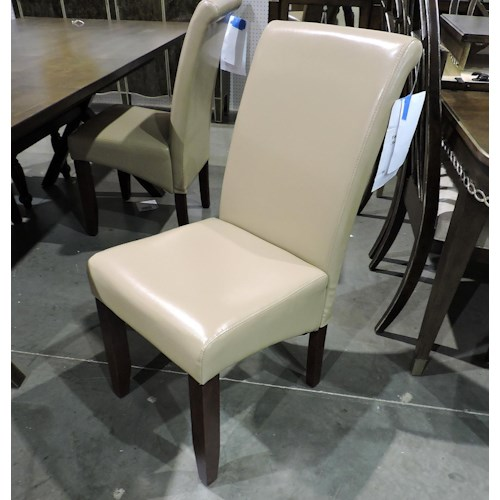 Jofran Clearance Bonded Leather Parson Chair