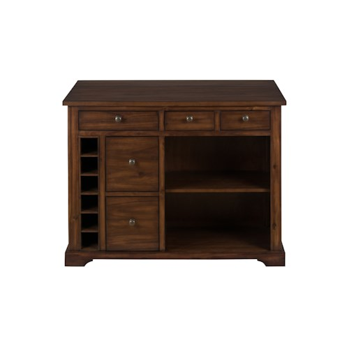Jofran Cooke County Kitchen Island with Expandable Drop-Leaf Table Top