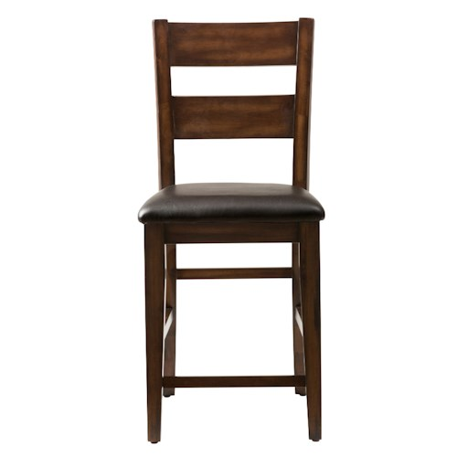 Jofran Cooke County Ladderback Counter Stool with Padded Seat Cushion