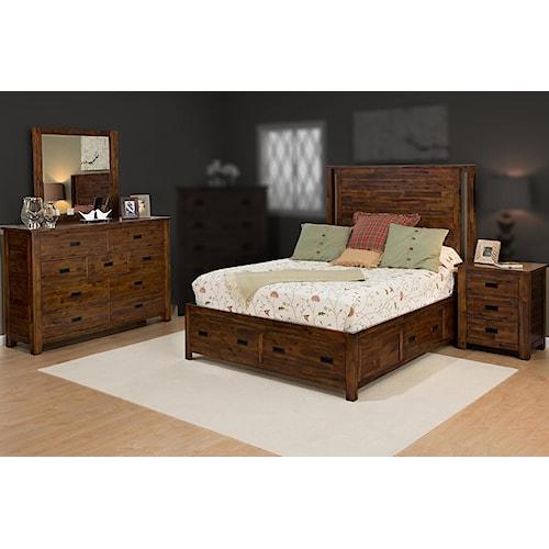 Jofran Coltran 4PC Queen Storage Bedroom Set