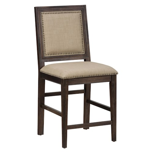 Morris Home Furnishings Long Beach Counter Height Chair for Use with Kitchen Island