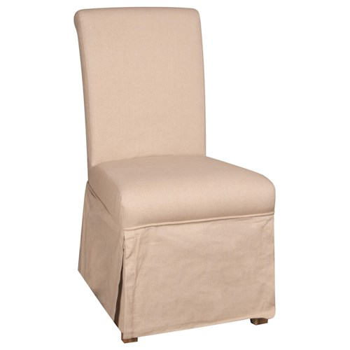 Morris Home Furnishings Long Beach Long Beach Slipcover Parson Chair