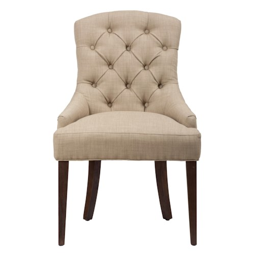 Morris Home Furnishings Long Beach Upholstered Side Chair with Tufted Back