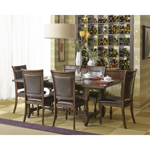 Jofran Grand Havana Dining Table and Chair Set with Traditional Style
