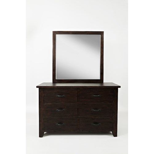 Jofran Jackson Lodge Youth Double Dresser and Mirror