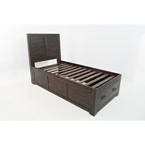 Jofran Jackson Lodge Youth Twin Storage Bed