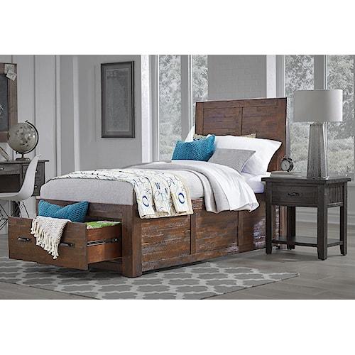 Jofran Jax Youth Twin Storage Bed