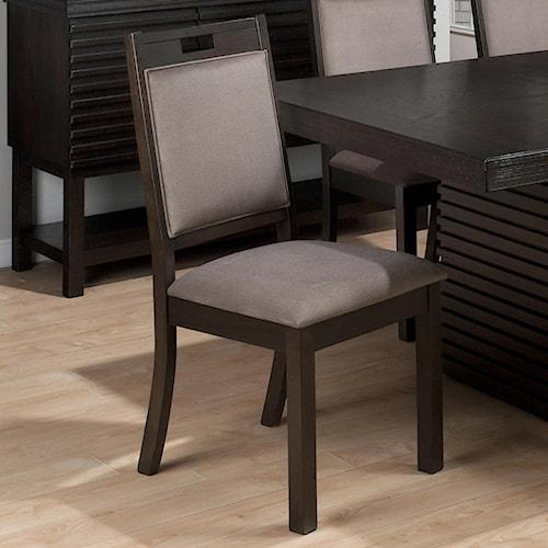 Jofran Sensei Oak Transitional Hamilton Upholstered Side Chair