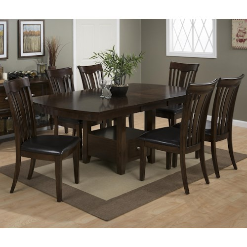 Jofran Mirandela Birch Table and Chair Set with Padded Cushions on Chairs